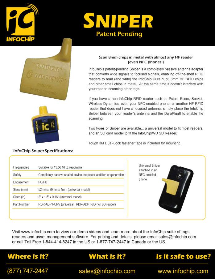 Sniper - HF RFID NFC Adapter for Smartphones | InfoChip